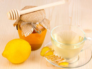 Напиток с имбирем, медом и лимоном
