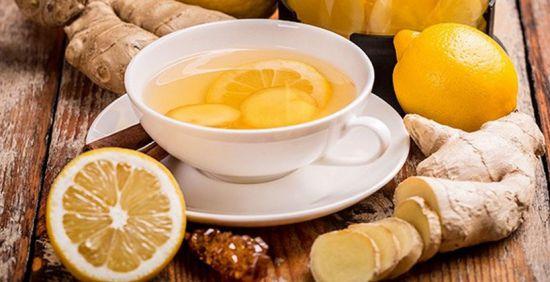 Чай с имбирем и лимоном