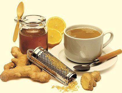 Имбирь, чеснок, мед и лимон