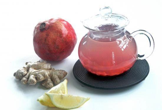 Чай с имбирем и гранатом