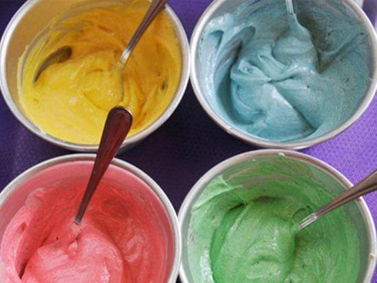 Глазурь разных цветов