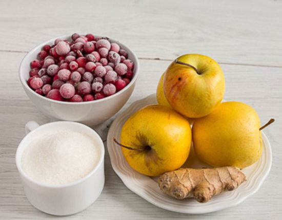 Ингредиенты для компота с имбирем