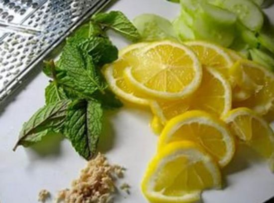 Имбирь с лимоном и мятой