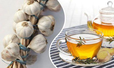 Чай с чесноком и имбирем