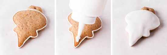 Нанесение глазури на печенье