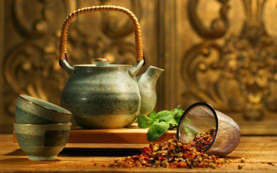 Чай в заварочном чайнике