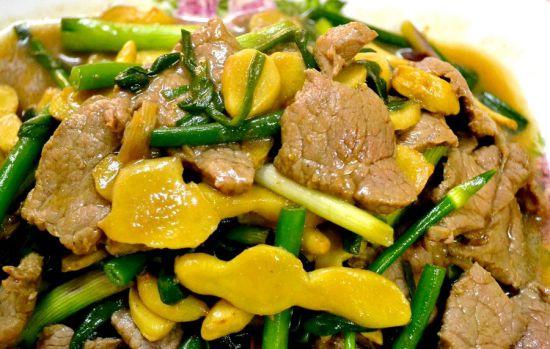 Мясное блюдо с имбирем