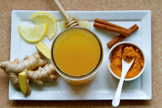 Имбирь, лимон, мед, корица