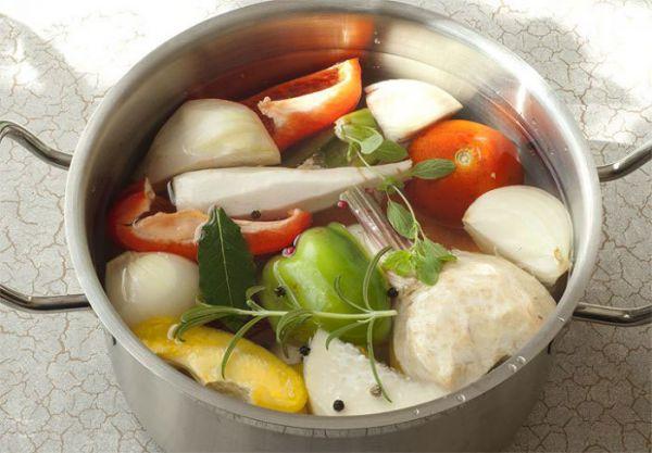 Ингредиенты для имбирного супа
