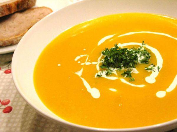 Имбирный суп с тыквой