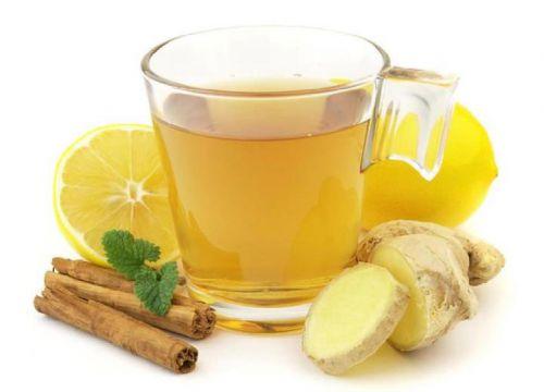 Чай с имбирем, корицей и лимоном