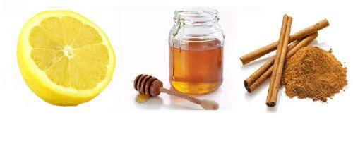 Лимон, мед, корица