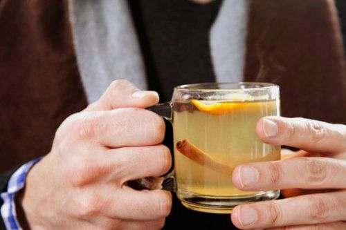 Имбирный напиток с корицей и апельсином
