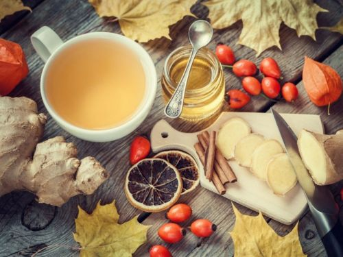 Ингредиенты для имбирного напитка