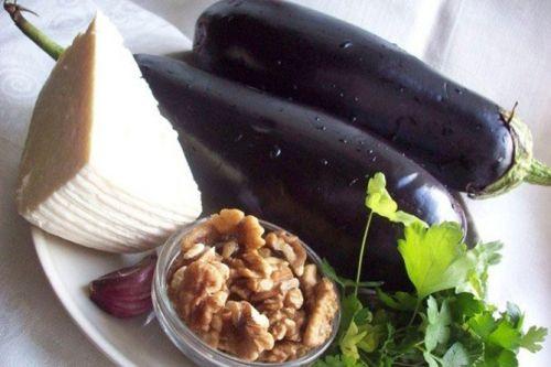 Баклажан, чеснок, сыр
