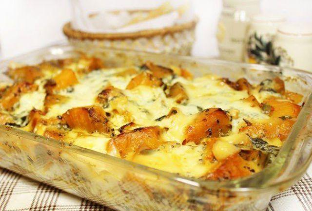 Запеканка из тыквы с сыром