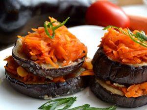 Баклажаны с морковью