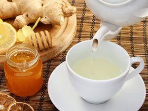 Имбирный напиток с медом и лимоном
