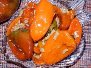 Болгарский перец жареный с чесноком