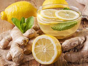 Чай с имбирем, лимоном и мятой