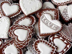 Имбирные пряники к Дню Святого Валентина
