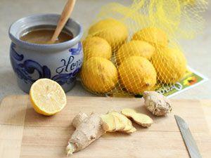 Напиток из имбиря и лимона и меда